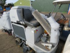 NILFISK BR1100S RIDE ON SWEEPER WITH BATTERIES. SOURCED FROM SITE CLEARANCE CONDITION UNKNOWN.
