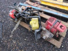 2 X CHAINSAWS PLUS 2 X WATER PUMPS, CONDITION UNKNOWN.