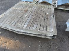 PAIR OF PRE-USED HEAVY DUTY WOODEN ENTRANCE GATES. 1.9M HEIGHT X 2.1M WIDTH EACH.