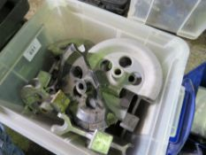 BOX OF PIPE BENDING DIES.