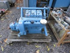 LISTER 3 CYLINDER DIESEL ENGINE WITH GEARBOX. DIRECT EX LOCAL BOAT YARD.