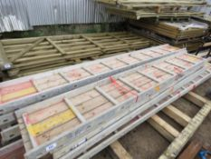 PALLET CONTAINING 13 X STAGING BOARDS. 2 X 14FT, 5 X 10FT, 6 X 12FT APPROX.