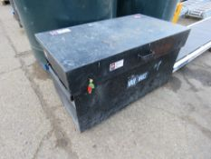 TOOL BOX WITH KEY. (LOCK NOT WORKING??) SOURCED FROM LOCAL DEPOT CLEARANCE DUE TO A CHANGE IN POLICY