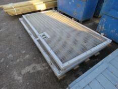 2 X MESH COVERED STEEL GATES 1.17M WIDE EACH APPROX.