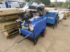 STEPHILL 6KVA BARROW GENERATOR WITH LIGHTING TOWER MAST ATTACHED.