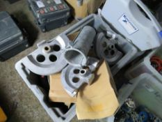 BOX OF PIPE BENDING DIES. SOURCED FROM DEPOT CLEARANCE DUE TO A CHANGE IN COMPANY POLICY.