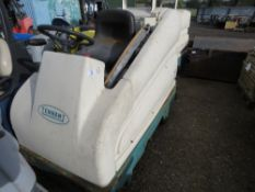 TENNANT 7200 RIDE ON SWEEPER WITH BATTERIES. SOURCED FROM SITE CLEARANCE CONDITION UNKNOWN.
