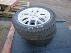 2 X MG 205/50R16 WHEELS AND TYRES.
