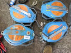 4 X MANHOLE RECOVERY WINCHES, UNTESTED.