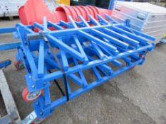 2 X WHEELED PIPE STAND TROLLEYS. SOURCED FROM LOCAL DEPOT CLEARANCE DUE TO A CHANGE IN POLICY.