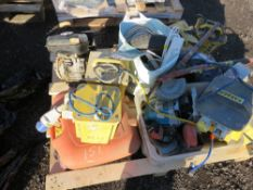 PALLET CONTAINING 6 X TRANSFORMERS PLUS AN ENGINE AND VARIOUS TOOLS AND PARTS.