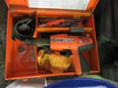 1 X SPIT P60 NAIL GUN IN CASE. SOURCED FROM DEPOT CLEARANCE DUE TO A CHANGE IN COMPANY POLICY.