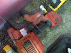 2 X HILTI TE6 DRILLS WITH CHARGERS BUT NO BATTERIES. SOURCED FROM DEPOT CLEARANCE DUE TO A CHANGE IN