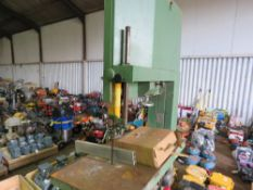 LARGE SIZED 3 PHASE WADKIN BANDSAW WITH SPARE BLADES.