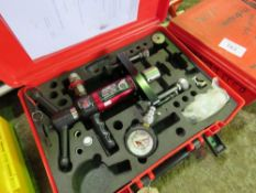 HYDROJAWS MOUNTING/FIXING TEST SET IN CASE. SOURCED FROM DEPOT CLEARANCE DUE TO A CHANGE IN COMPANY