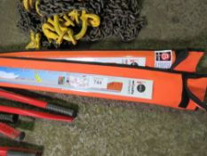 2 X MESSFIX 5 METRE TELESCOPIC LOAD MEASURING STICKS, LITTLE USED. SOURCED FROM DEPOT CLEARANCE DUE