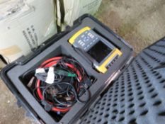 FLUKE 435 POWER QUALITY ANALYZER TEST UNIT COMPLETE WITH CABLES ETC IN CASE. SOURCED FROM DEPOT CLE