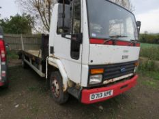 CARGO BEAVERTAIL PLANT LORRY. D713 XPE WHEN TESTED WAS SEEN TO START DRIVE AND BRAKE. REG:D713 XPE.