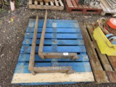 PAIR OF FORKLIFT TINES, UNTESTED.