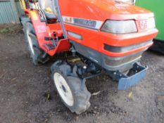 YANMAR KE3 4WD COMPACT TRACTOR WITH REAR LINKAGE.349 REC HRS. WHEN TESTED WAS SEEN TO RUN, DRIVE, P