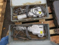 2 X HEAVY DUTY BREAKER DRILLS IN BOXES, CONDITION UNKNOWN.
