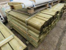 LARGE PACK OF FEATHER EDGE TIMBER FENCE CLADDING 1.65M LENGTH APPROX.