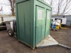 MOBILE TOWED TOILET/SHOWER BLOCK. WITH 6KVA DIESEL GENERATOR (SEEN TO MAKE POWER) ON LOW LOADER SING