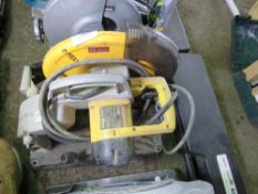 DEWALT 110 VOLT METAL CUTTING SAW. SOURCED FROM DEPOT CLEARANCE DUE TO A CHANGE IN COMPANY POLICY.