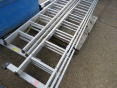 2 X 3 SECTION EXTENSION LADDERS. SOURCED FROM LOCAL DEPOT CLEARANCE DUE TO A CHANGE IN POLICY.