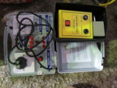 TRANSMILE ELECTRIC TESTER PLUS A NEON INDICATOR UNIT. SOURCED FROM DEPOT CLEARANCE DUE TO A CHANGE I