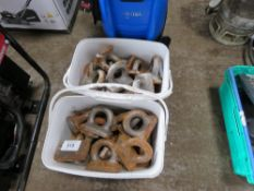 2 X BOXES OF WELD ON LIFTING LUGS/RINGS.