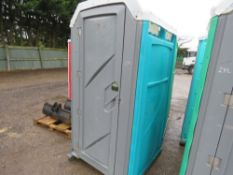 PORTABLE SITE TOILET WITH WASH BASIN AND URINAL.