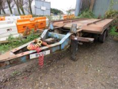 HYMAN 18TONNE DRAWBAR FLAT/BIN TRAILER. YEAR 1993. 6.3M TOTAL BED LENGTH OF WHICH APPROX 5M IS STEEL