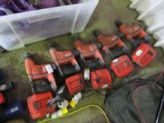 5 X HILTI TE6 BATTERY DRILLS WITH CHARGERS BUT NO BATTERIES. SOURCED FROM DEPOT CLEARANCE DUE TO A C