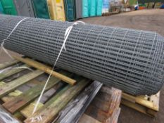 ROLL OF GALVANISED MESH FENCING 6FT HEIGHT APPROX.