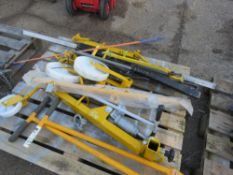MANHOLE LID LIFTING TROLLEY AND ASSOCIATED EQUIPMENT. SOURCED FROM LOCAL DEPOT CLEARANCE DUE TO A CH
