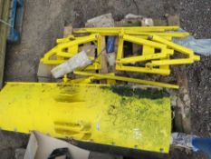 3 X FRONT MOUNTED SNOW PLOUGH BLADES WITH BRACKETS.