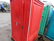 MAINS PORTABLE SITE TOILET WITH WASHBASIN.