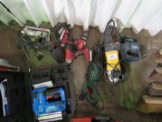 7 X ASSORTED POWER TOOLS AS SHOWN.
