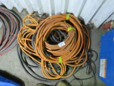 QUANTITY OF ASSORTED WELDING CABLE ETC. SOURCED FROM DEPOT CLEARANCE DUE TO A CHANGE IN COMPANY POLI