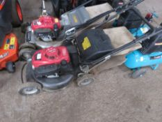 HEAVY DUTY SELF DRIVE MOWER WITH COLLECTOR BAG. WHEN TESTED WAS SEEN TO RUN, DRIVE AND CUT.