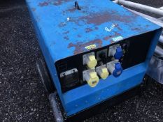 STEPHILL 6 KVA BARROW GENERATOR WITH YANMAR DIESEL ENGINE. WHEN TESTED WAS SEEN TO START AND RUN, OU