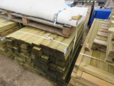 LARGE PACK OF FEATHER EDGE TIMBER FENCE CLADDING 1.5M LENGTH APPROX.