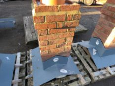 CGFMA FIBRE GLASS CHIMNEY STACK. GRP CENTRE AND BASE WITH REAL BRICK FACING. BELIEVED TO BE 25 DEGRE