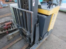 ATLET BATTERY POWERED REACH TRUCK, CONDITION UNKNOWN. SOURCED FROM SITE CLEARANCE.
