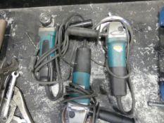 Makita 9557PB 41/2 angle grinders - QTY 3