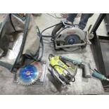 Bosch Circular Saw; Ryobi Jigsaw, Dynabrade Belt