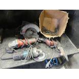 Assorted Drills & bits, grinders, circular saw