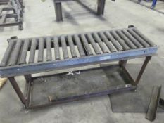 "Roller conveyor, 15_ wide x 60"" long with base"""