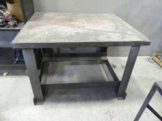 """Steel work table, heavy duty - ~41 x 48"""""""""""